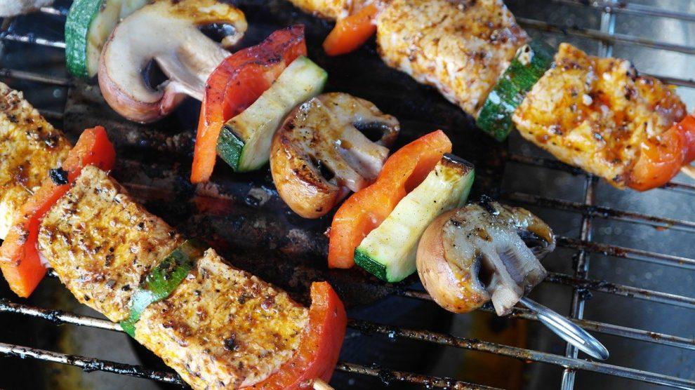 Grillspieße auch vegetarisch