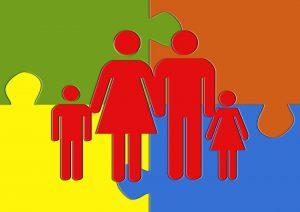 Familie Puzzle Patchworkfamilie